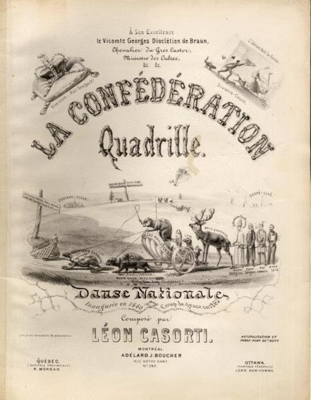 La Confederation Quadrille. Danse Nationale