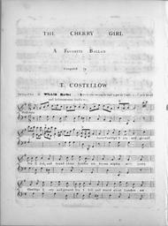 The Cherry Girl. A Favorite Ballad