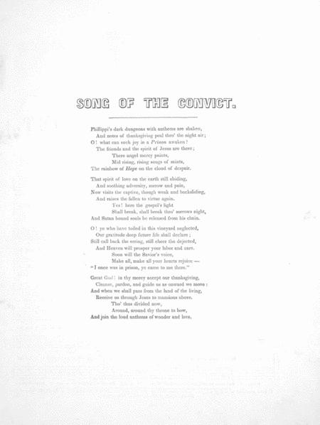 Song of the Convic