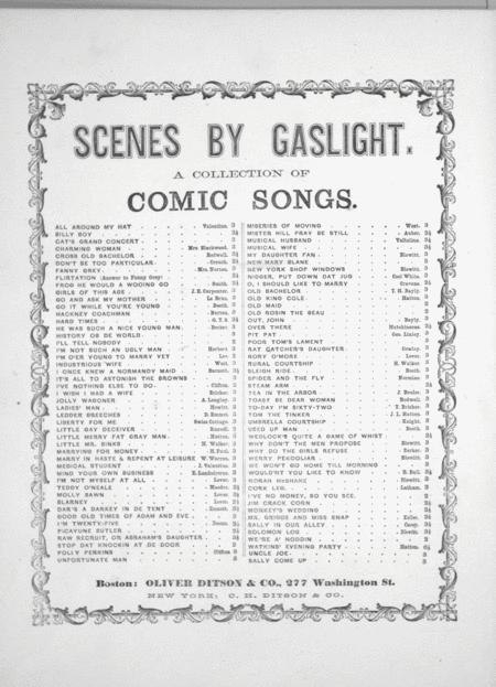 Scenes By Gaslight. A Collection of Comic Songs