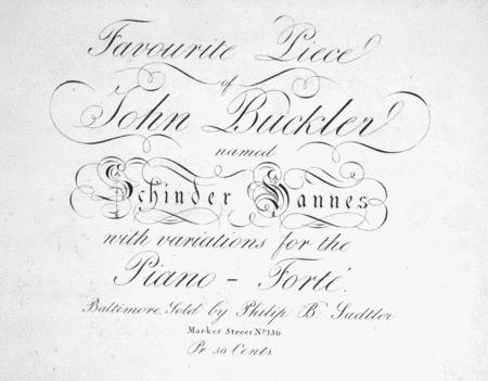 Favourite Piece of John Buckler named Schinder Hannes