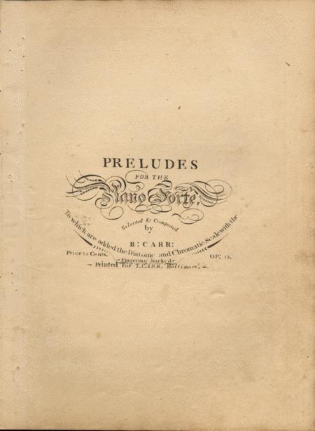 Preludes for the Piano Forte