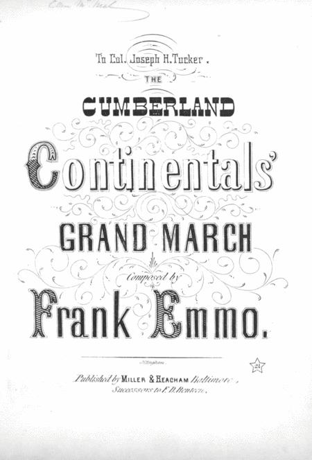 The Cumberland Continentals' Grand March