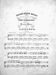Herz! Mein Herz! A Celebrated German Melody With Variations for the Piano Forte