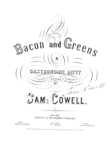 Bacon and Greens. A Gastronomic Ditty