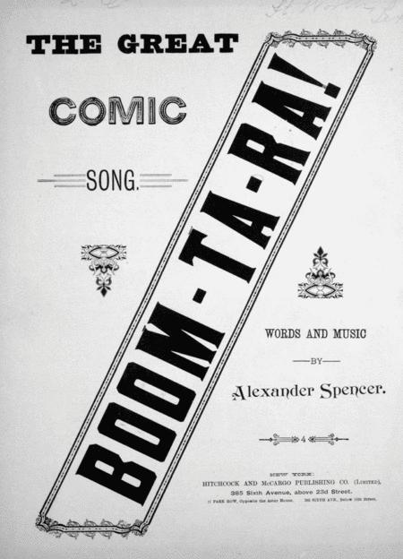 The Great Comic Song. Boom-Ta-Ra