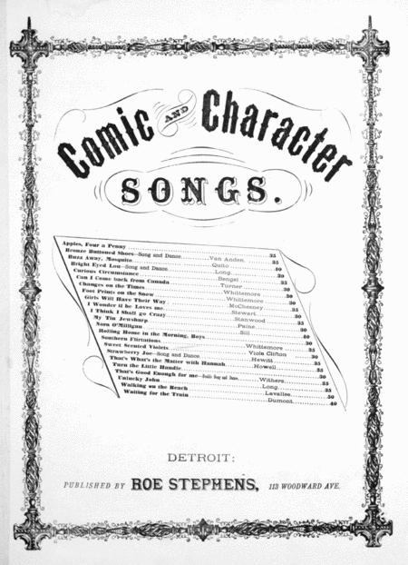 Comic and Character Songs. Sweet Scented Violets