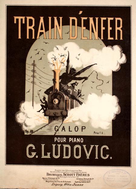 Train D'Enfer Galop Pour Piano