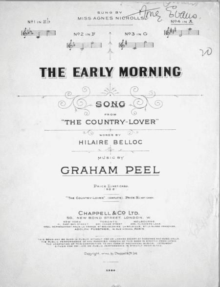 The Early Morning. Song From