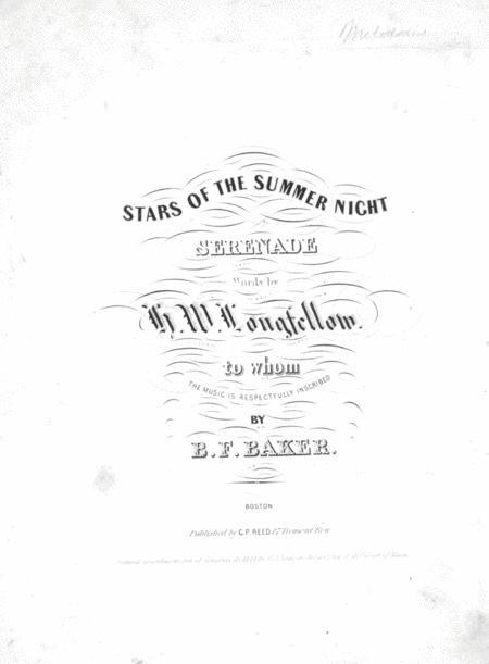 Stars of the Summer Night. Serenade