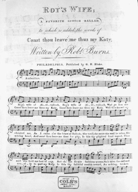 Roy's Wife. A Favorite Scotch Ballad