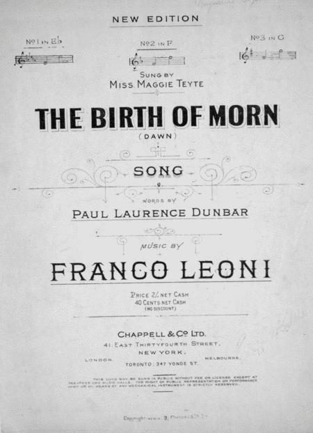 The Birth of Morn (Dawn). Song