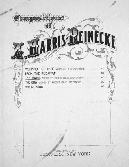 Compositions of Z. Harris-Reinecke. The Swing