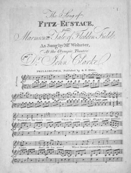 The Song of Fitz-Eustace from Marmion, a Tale of Flodden Field