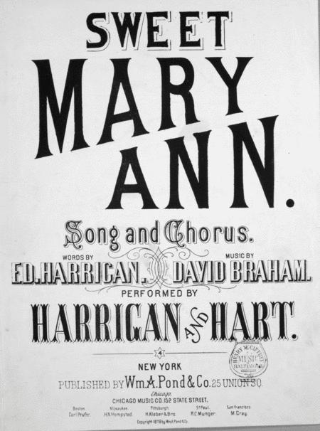 Sweet Mary Ann. Song and Chorus