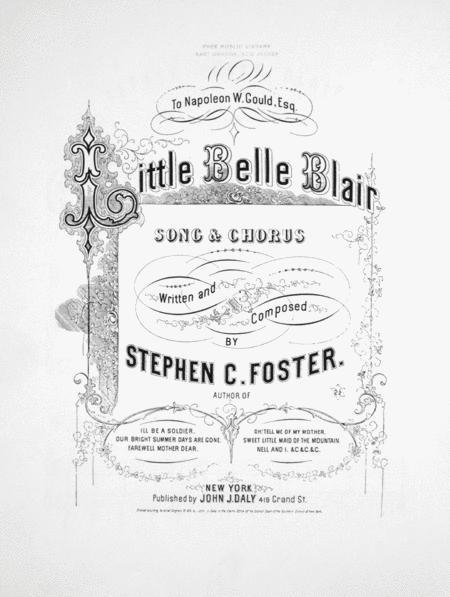 Little Belle Blair. Song & Chorus