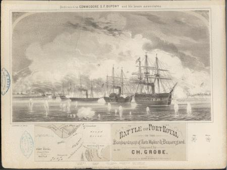 Battle of Port Royal, or, The Bombardment of Forts Walker & Beauregard