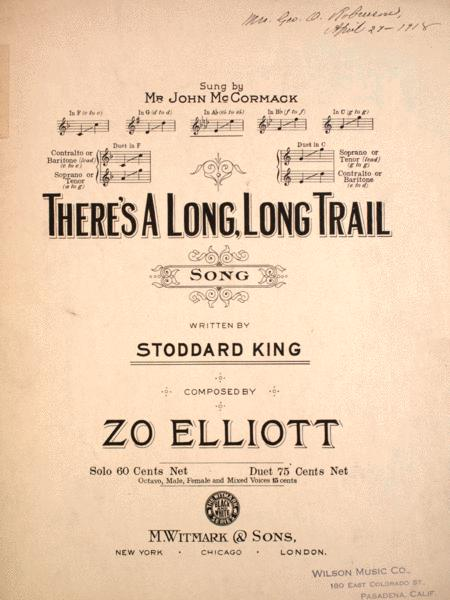 There's a Long, Long, Trail. Song