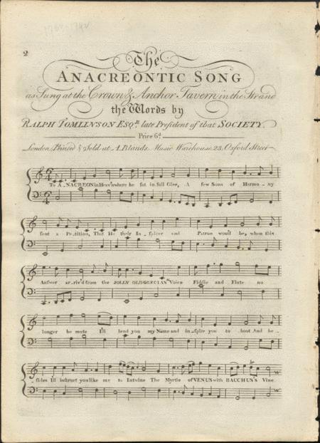 The Anacreontic Song