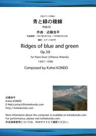 Ridges of blue and green op.38
