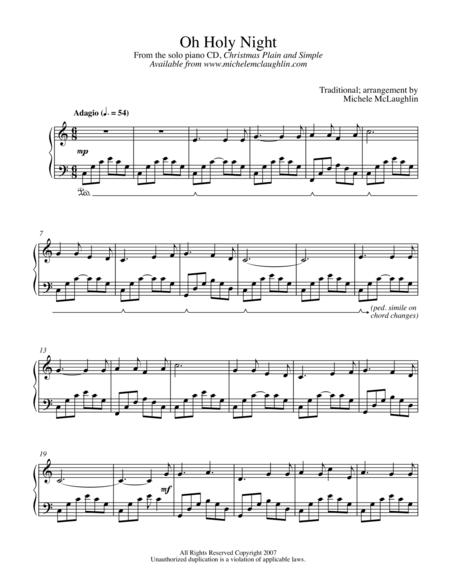 Download Oh Holy Night Sheet Music By Michele Mclaughlin Sheet