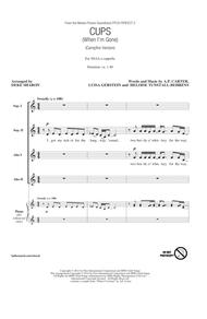 Cups (When I'm Gone) (Campfire Version) (from Pitch Perfect 2) (arr. Deke Sharon)