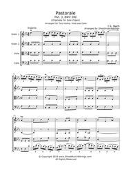 Bach, J.S. - Pastorale in F for String Quartet