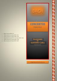 Six Bach's orchestral concertos for piano