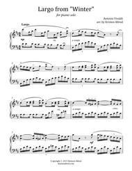Largo from Winter (for Piano solo)