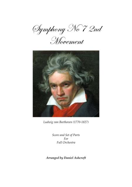 Beethoven's Symphony No 7 2nd Movement - Score and Parts