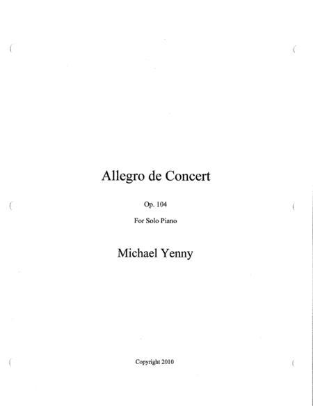 Allegro de Concert, op. 104