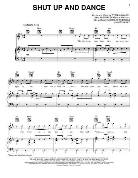 Download Shut Up And Dance Sheet Music By Walk The Moon - Sheet ...