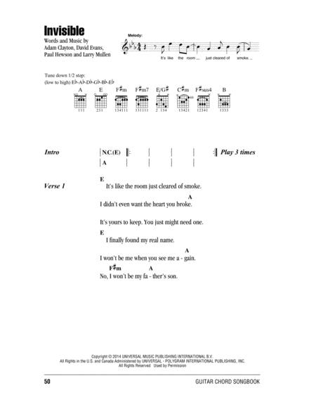 Preview Invisible By U2 (HX.305329) - Sheet Music Plus
