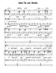 When The Lady Dances - Score