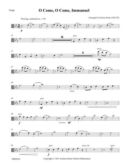 O Come, O Come, Immanuel (Viola)