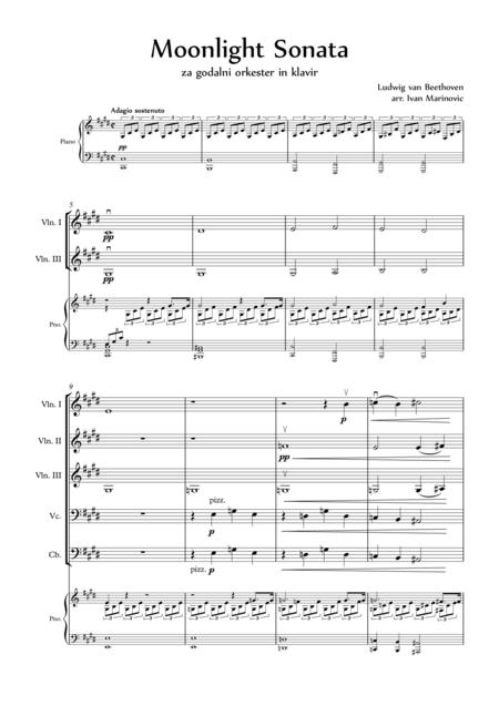 Moonlight Sonata for piano and strings