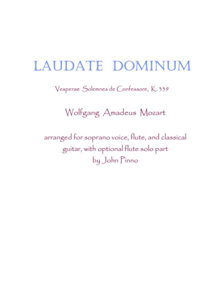 Laudate Dominum for voice, flute, and classical guitar
