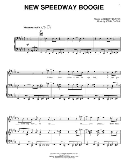 Download New Speedway Boogie Sheet Music By The Grateful Dead ...