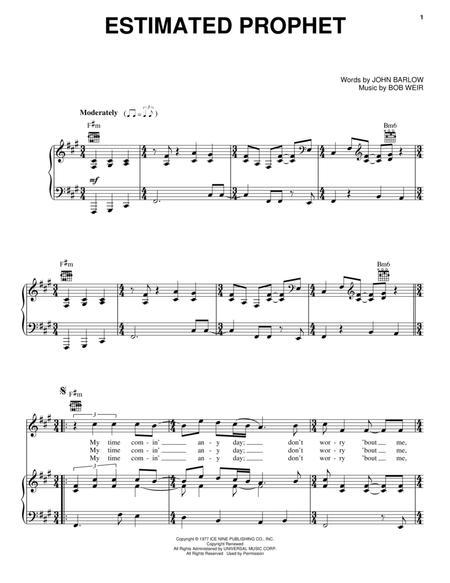 Download Estimated Prophet Sheet Music By The Grateful Dead Sheet