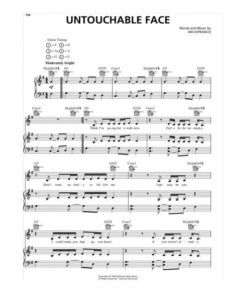 Download Untouchable Face Sheet Music By Ani Difranco Sheet Music Plus