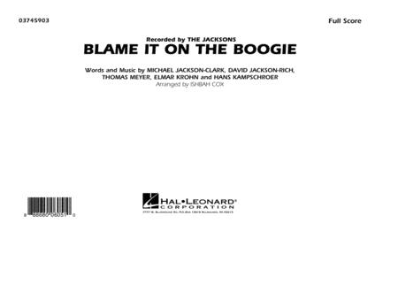 Blame It on the Boogie - Conductor Score (Full Score)