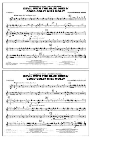 Devil with the Blue Dress/Good Golly Miss Molly - Eb Alto Sax