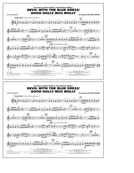 Devil with the Blue Dress/Good Golly Miss Molly - 3rd Bb Trumpet