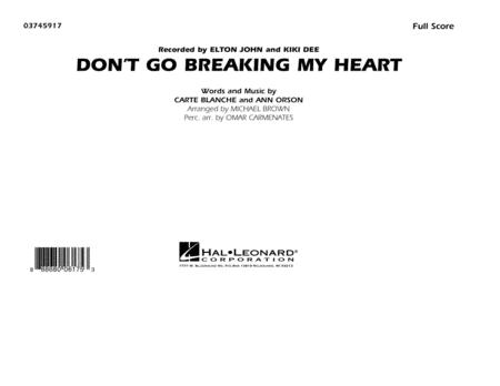 Don't Go Breaking My Heart - Conductor Score (Full Score)