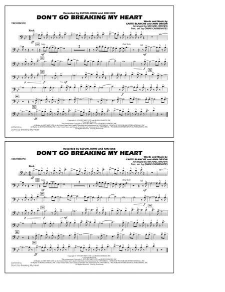 Don't Go Breaking My Heart - Trombone