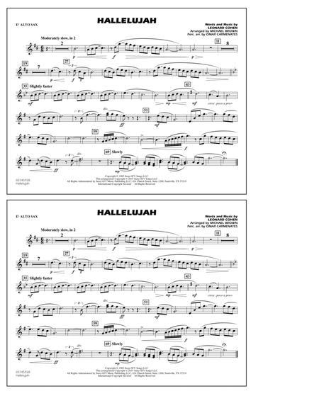 Hallelujah - Eb Alto Sax