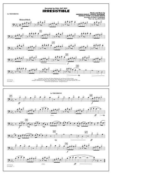 Irresistible - 1st Trombone