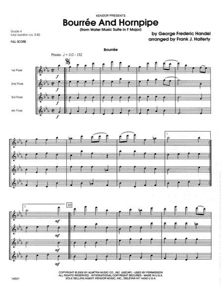 Bourree And Hornpipe (from Water Music Suite In F Major) - Full Score