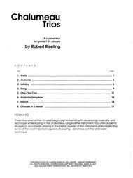Chalumeau Trios - Full Score
