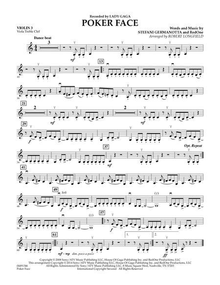 Poker Face - Violin 3 (Viola T.C.)